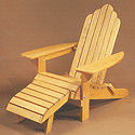 wooden patio chair